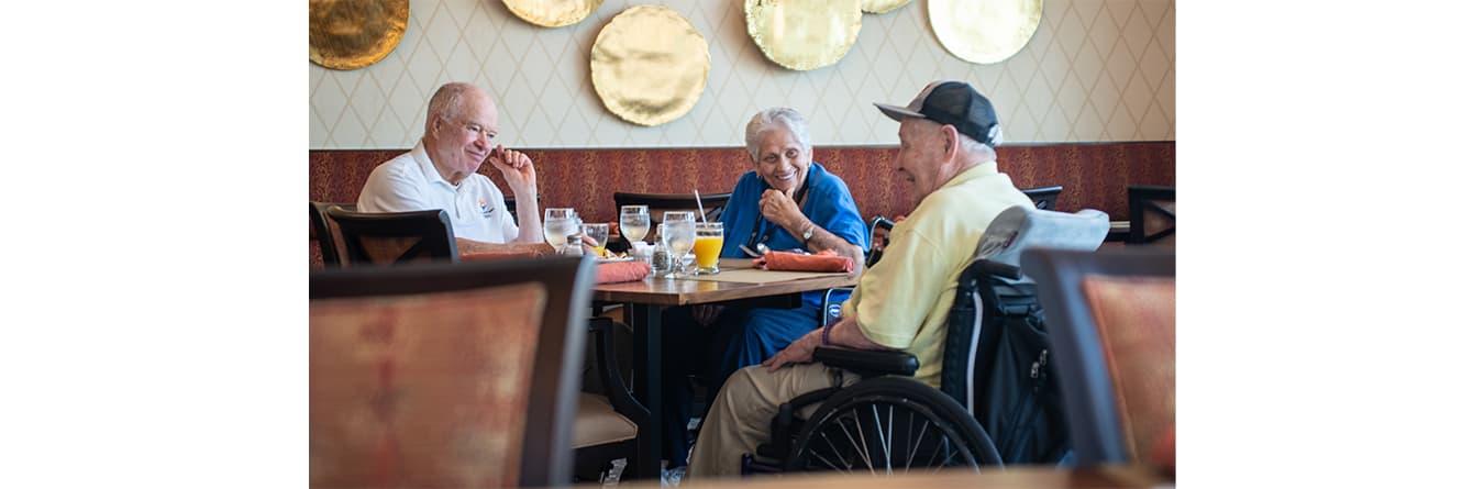 residents enjoying brunch